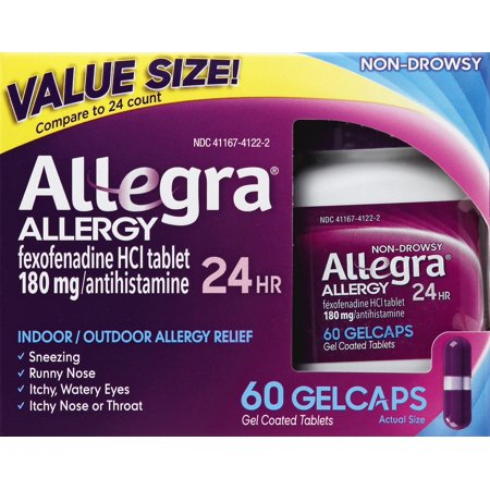 Indoor Allergy Relief (Allegra 24 Hour Allergy Relief Gelcaps, 60)