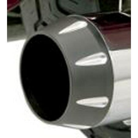 Bassani Optional Billet End Cap Black Tapered/ Contrast Flute -