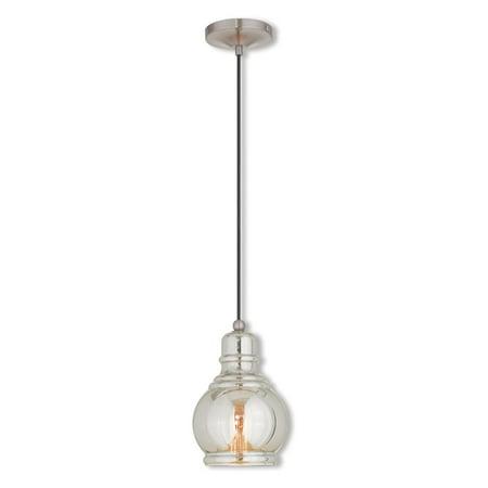 Livex Lighting Art Gl Mini Pendant 1 Light