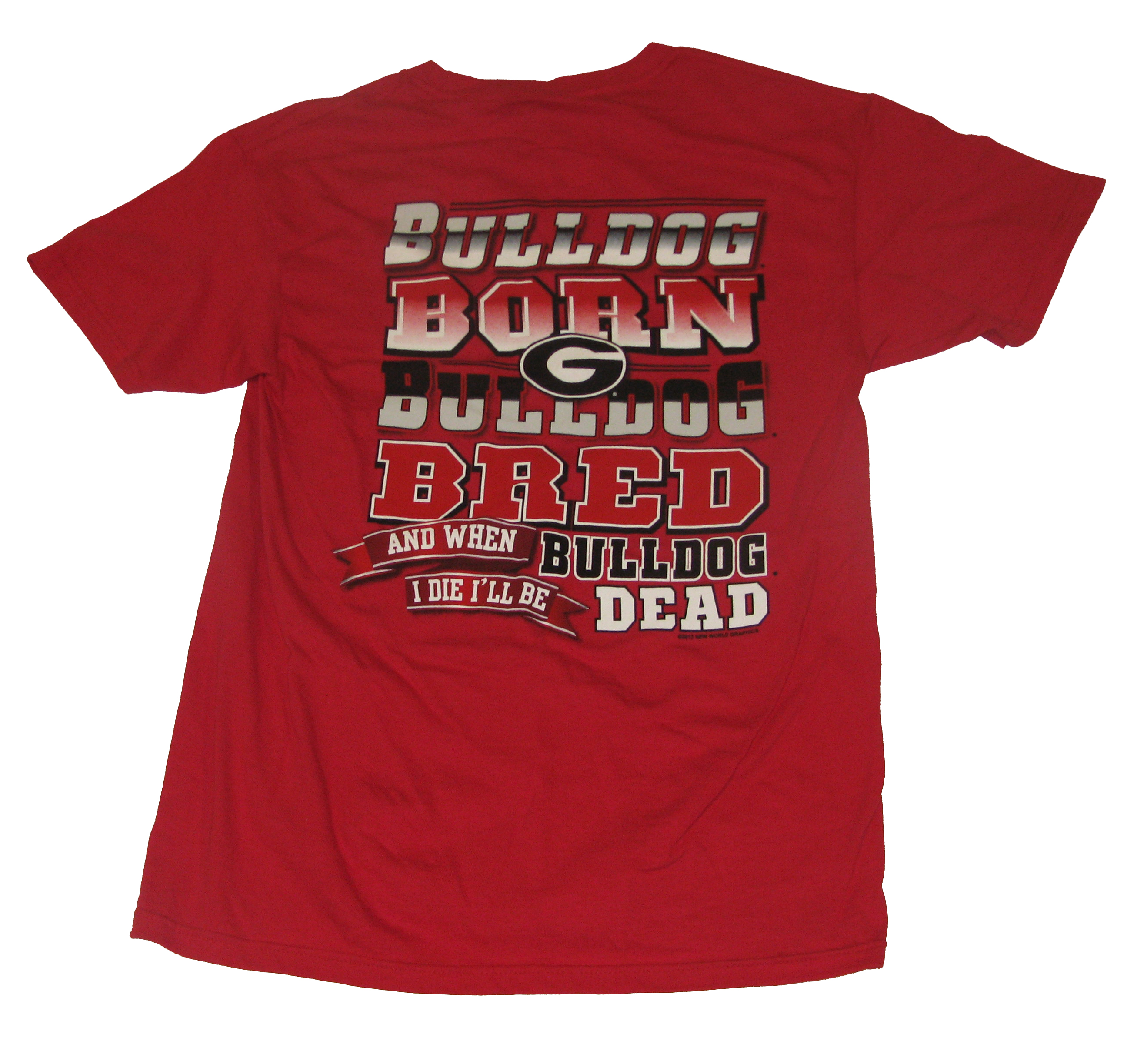 Georgia Bulldogs Bulldog Born Bulldog Bred T-shirt