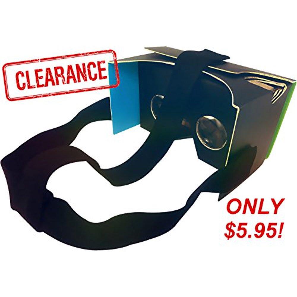 Nfld Google Cardboard V2 - Black Virtual Reality Headset Kit + Head Strap -