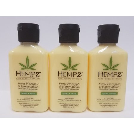 Pack of 3 - HEMPZ 2.25 fl. oz Lotion - Sweet Pineapple and Honey Melon