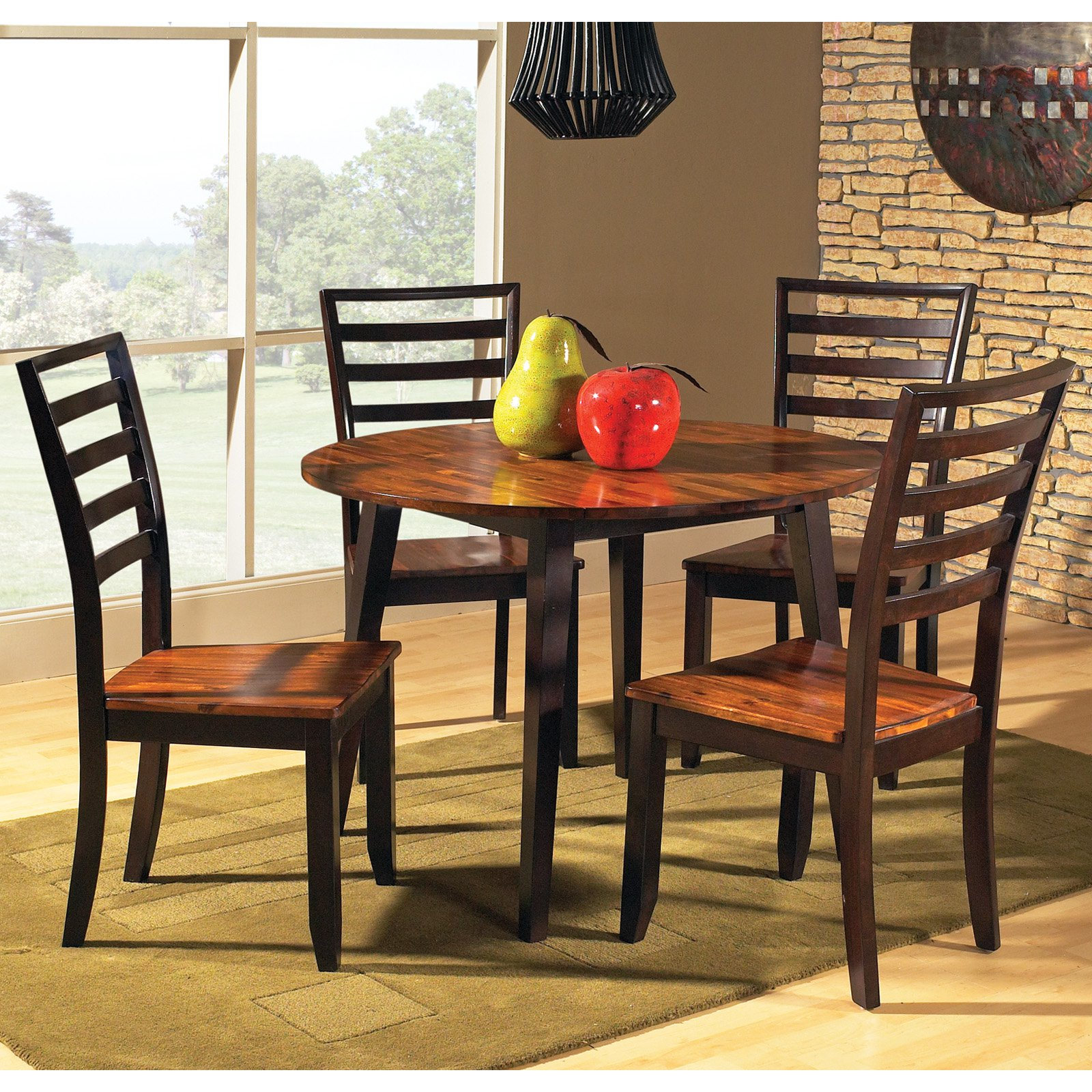 Steve Silver Abaco 5 Piece Double Drop Leaf Dining Table Set by Steve Silver Co