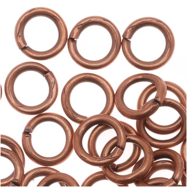 Genuine Antiqued Copper Open 5mm Jump Rings 19 Gauge (50)