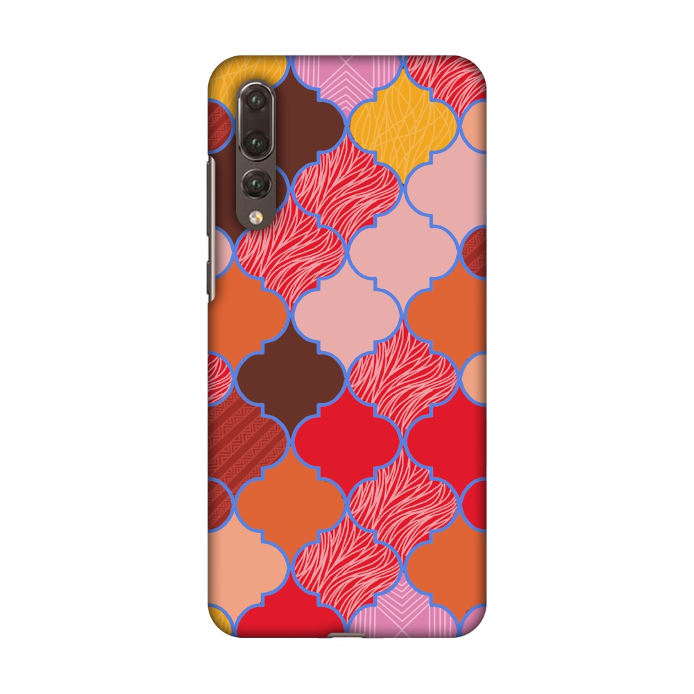Huawei P20 Pro Case - Stained glass- Christmas red, Hard Plastic Back Cover, Slim Profile Cute Printed Designer Snap on Case with Screen Cleaning Kit