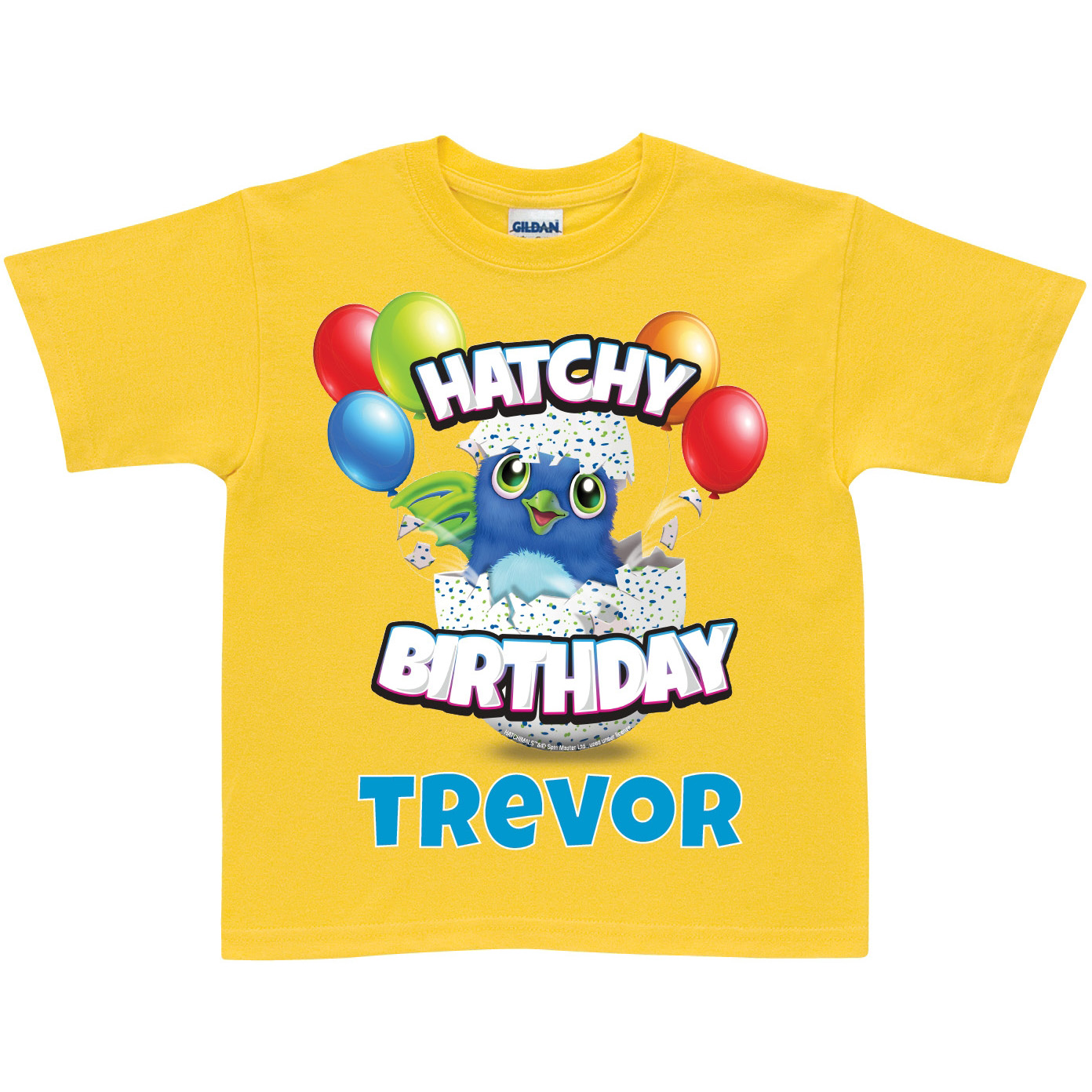 Hatchimals Hatchy Birthday Personalized Toddler Yellow T-Shirt - 2T, 3T, 4T, 5/6T