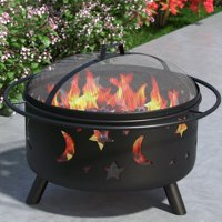 Regal Flame Stars and Moon Outdoor Steel Wood Burning Fire Pit