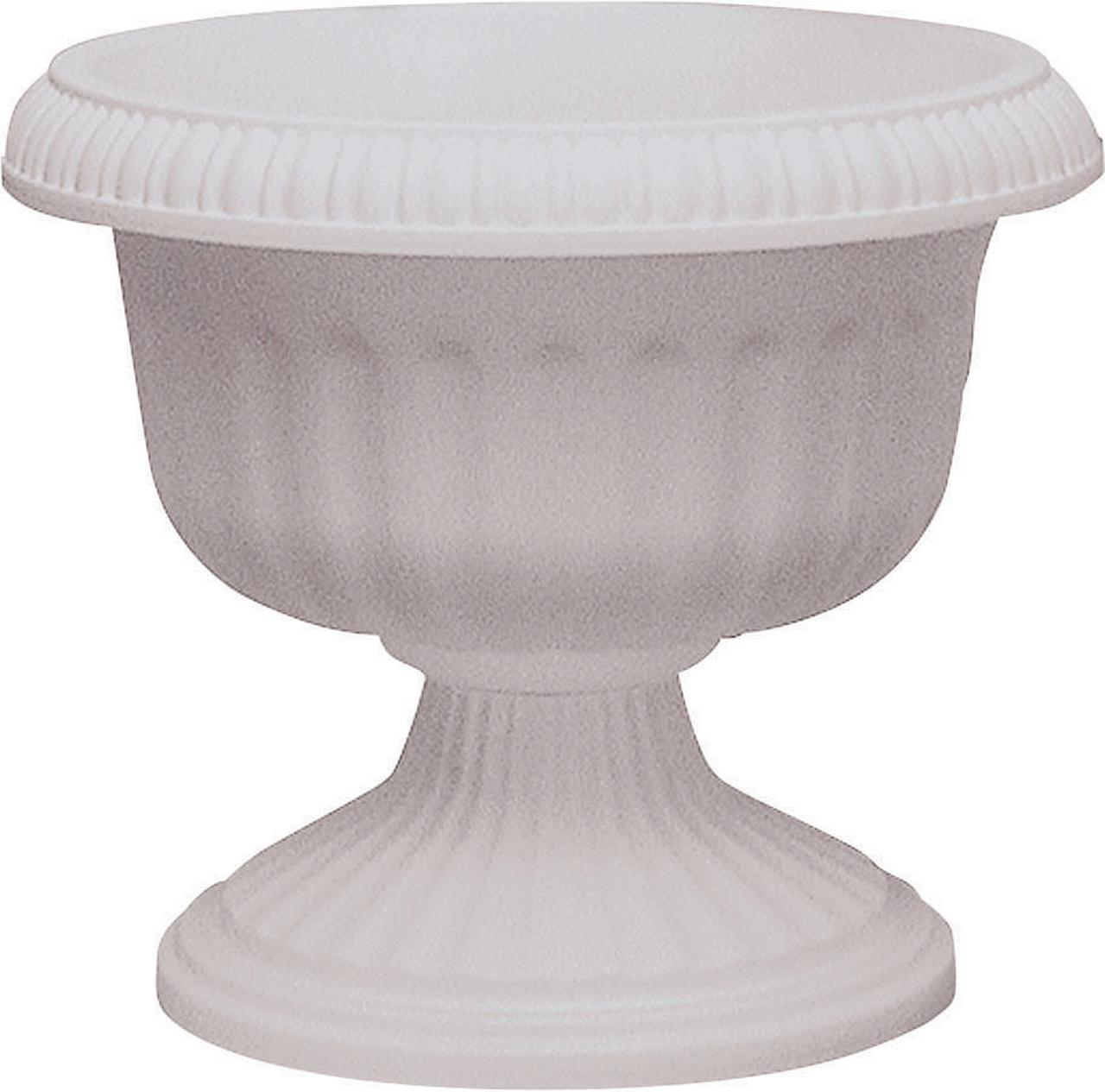 Southern Patio Dynamic Design UR1810WH Grecian Style Urn Planter, 18 in Dia X 17.63 in L,... by ATT SOUTHERN INC