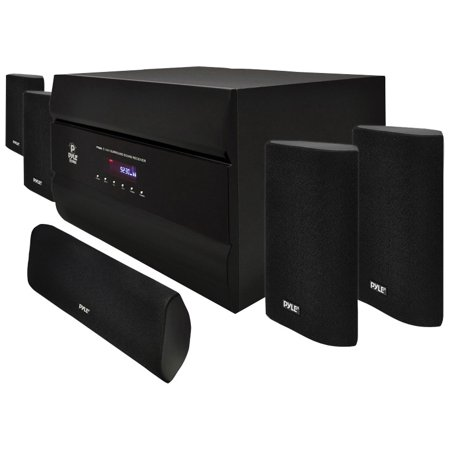 Pyle Pt628a 400W 5 1 Channel Home Theater System With Am Fm Tuner  Cd  Dvd And Mp3 Player Compatibility