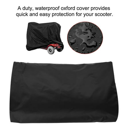 WALFRONT Elderly Mobility Scooter Cover, Waterproof Rain Protection Wheelchair Professional Storage Cover (Black) - image 1 of 9