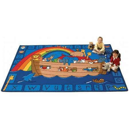Carpets for Kids 74013 Alphabet Noah Rug, 3 ft. 10 in. x 5 ft. 5 - Alphabet Carpet