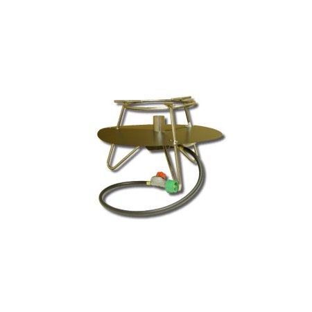 - King Kooker Jet Burner Outdoor Cooker Package with Baffle and Round Bar Legs
