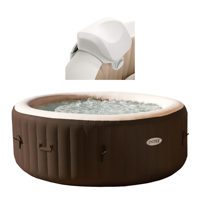 Intex 28403vm Pure Spa 4 person Inflatable Heated Hot Tub And Soft Foam Headrest