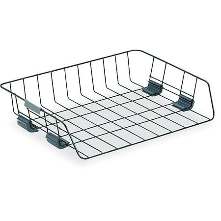 Fellowes Side Load Wire Stacking Letter Tray  Wire  Black