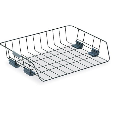 Fellowes Side-Load Wire Stacking Letter Tray, Wire, Black ()