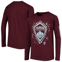 Colorado Rapids Youth Deconstructed Long Sleeve T-Shirt - Burgundy