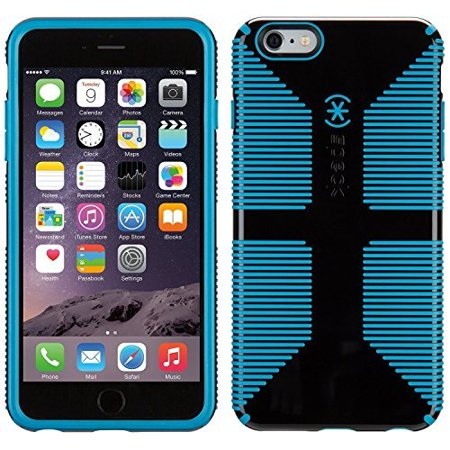 the latest 145e6 5334a Speck Candyshell Grip iPhone 6s and iPhone 6 Case - Black / Jay Blue