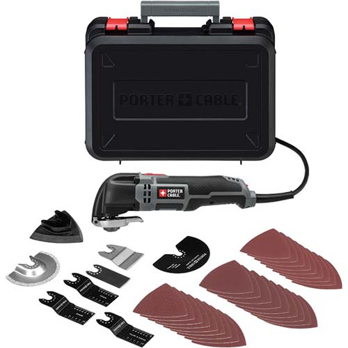 Porter Cable PC250MTK 2.5 Amp Oscillating Multi-Tool Kit ...