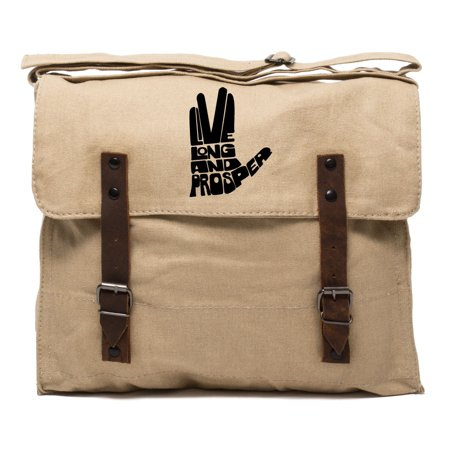 Live Long And Prosper Hand With Text Army Heavyweight Canvas Medic Shoulder (Best Male Masterbation Aid)