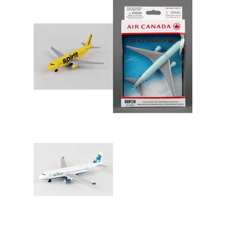 Spirit  Air Canada  Jetblue Airlines Diecast Airplane Package   Three 5 5  Diecast Model Planes
