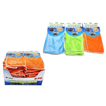 Diamond Visions 11-1501 Microfiber Cloth 2 Piece Pack in Assorted Colors Bundle of 3 Packs (6 Microfiber Cloths)