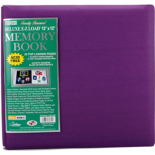 "Family Treasures Deluxe Fabric Postbound Album, 12"" x 12"""