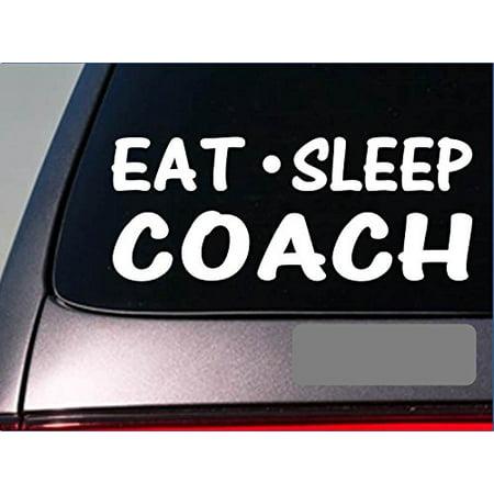 Ou Football Coaches Halloween (Eat Sleep Coach Sticker *G833* 8