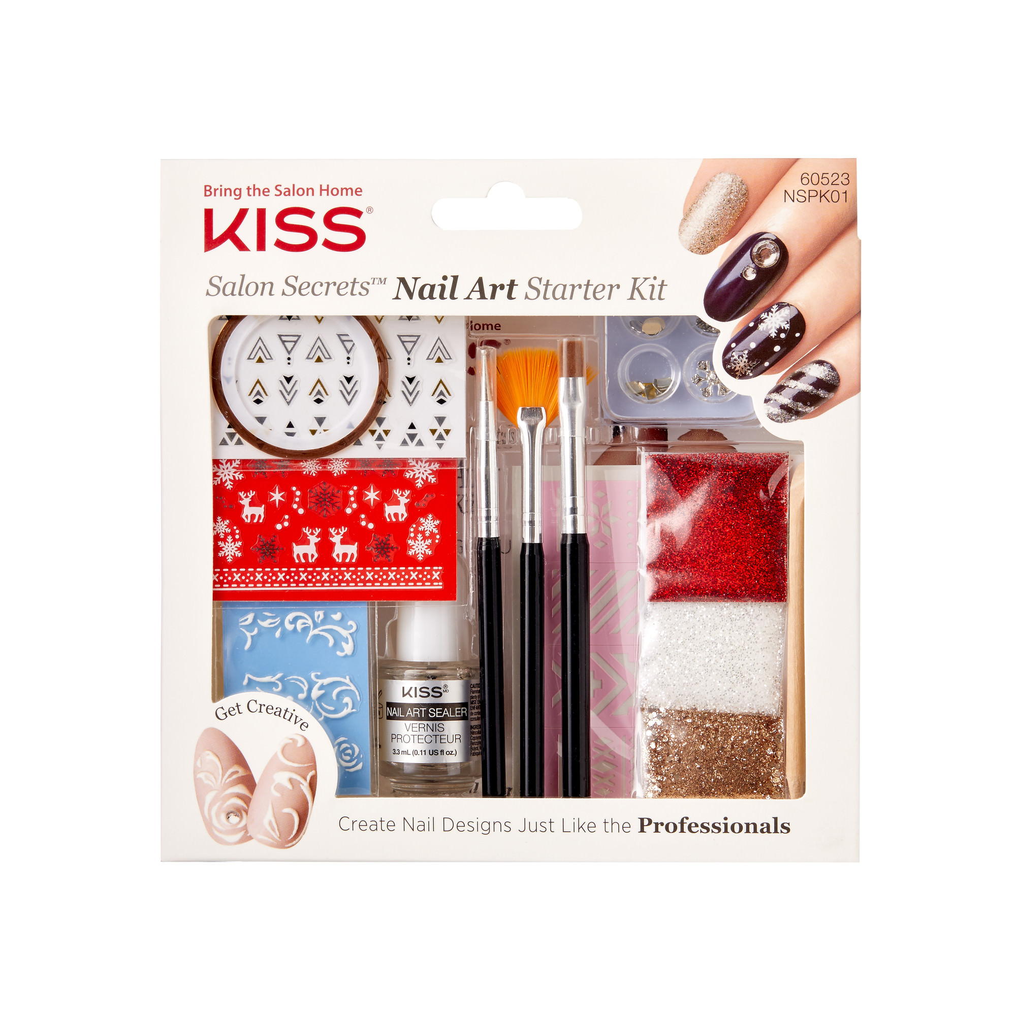 KISS Salon Secrets™ Nail Art Starter Kit - Walmart.com