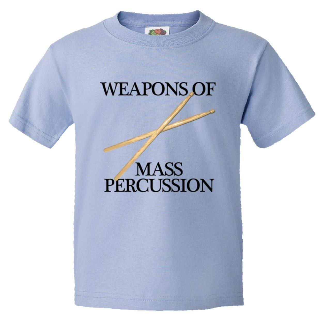 PleaseMeTees™ Youth Weapons Of Mass Percussion Drum Sticks HQ Tee