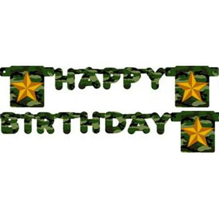 Military Camouflage Happy Birthday Banner (1ct)](Camo Birthday Supplies)