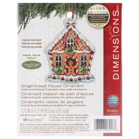 Susan Winget Gingerbread House Counted Cross-Stitch Kit, 3-1/4