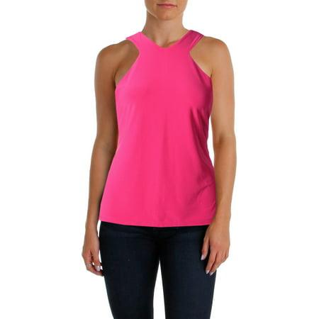 Lauren Ralph Lauren Womens Matte Jersey Sleeveless Blouse Pink (Lauren Pink Collection)