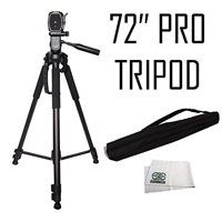 Professional 72-inch Tripod 3-way Panhead Tilt Motion with Built In Bubble Leveling for Sony NEX-5, A65, A77,A77ii, A99, A65, A35, A55, A57, A58, A33,A37, A380, NEX-5, Nex5tl, NEX-6, NEX-7, A230, A390