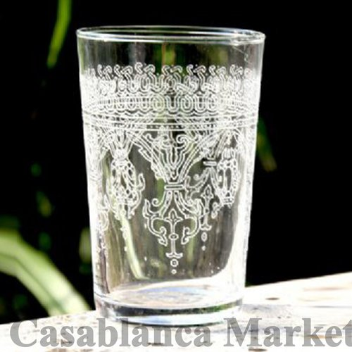 Casablanca Market Moroccan Fnar Glass (Set of 6)