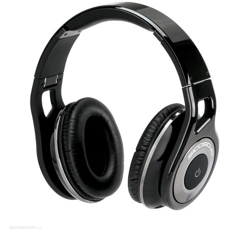 Scosche Bluetooth Stereo Headphones with Controls, Black by