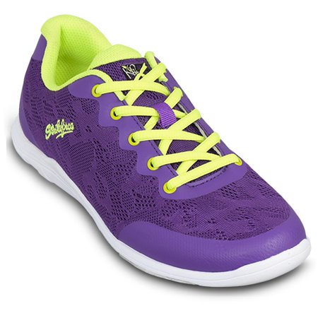 (KR Strikeforce Womens Lace Bowling Shoes- Purple/Yellow 6)