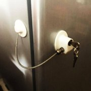 Refrigerator Lock, Fridge Lock with keys, Rustproof Freezer Lock with Strong