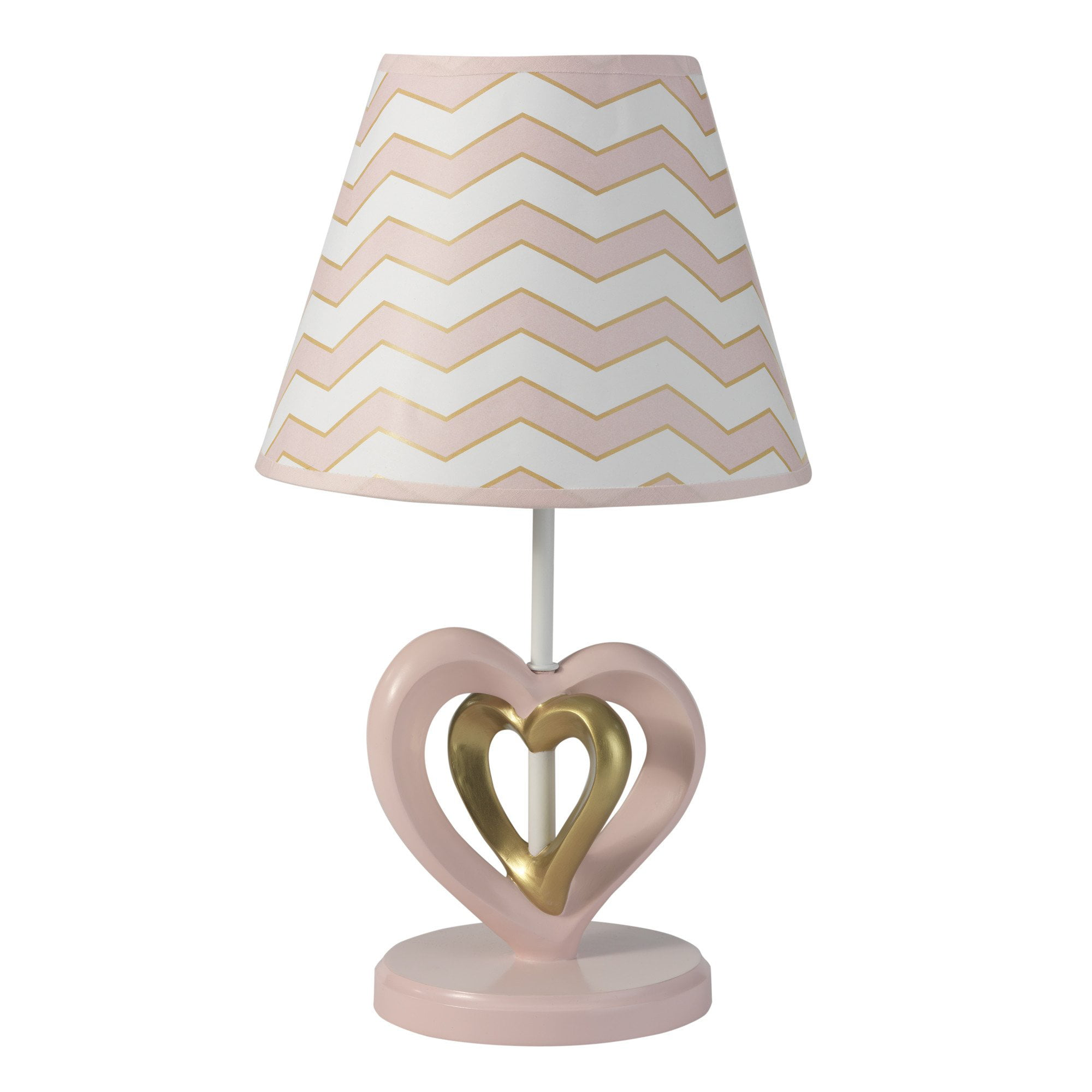 Lambs & Ivy Baby Love Lamp with Shade & Bulb Pink, Gold, White, Love, Hearts by Lambs %26 Ivy