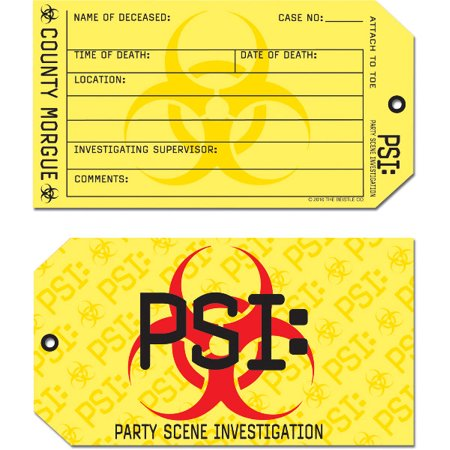 PSI Toe Tag Invitations (Pack of 12)