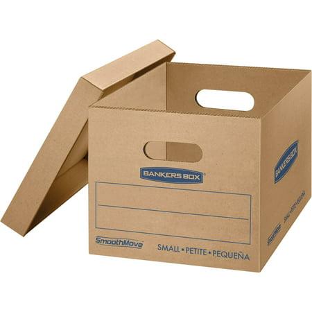 Bankers Box SmoothMove Classic Moving Boxes, Small 20pk, Kraft, 20 / Carton (Quantity) - Kraft Gable Boxes
