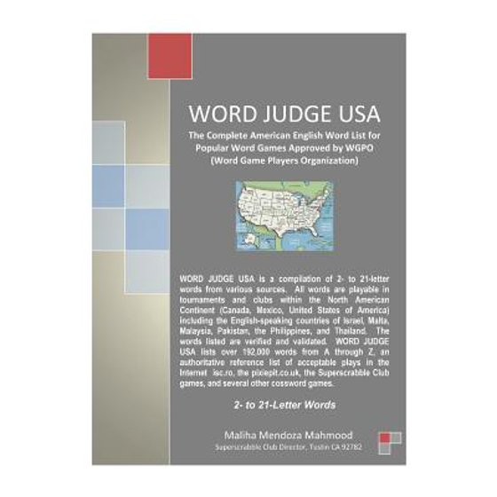 Word Judge USA : The Complete American English Word List for Popular