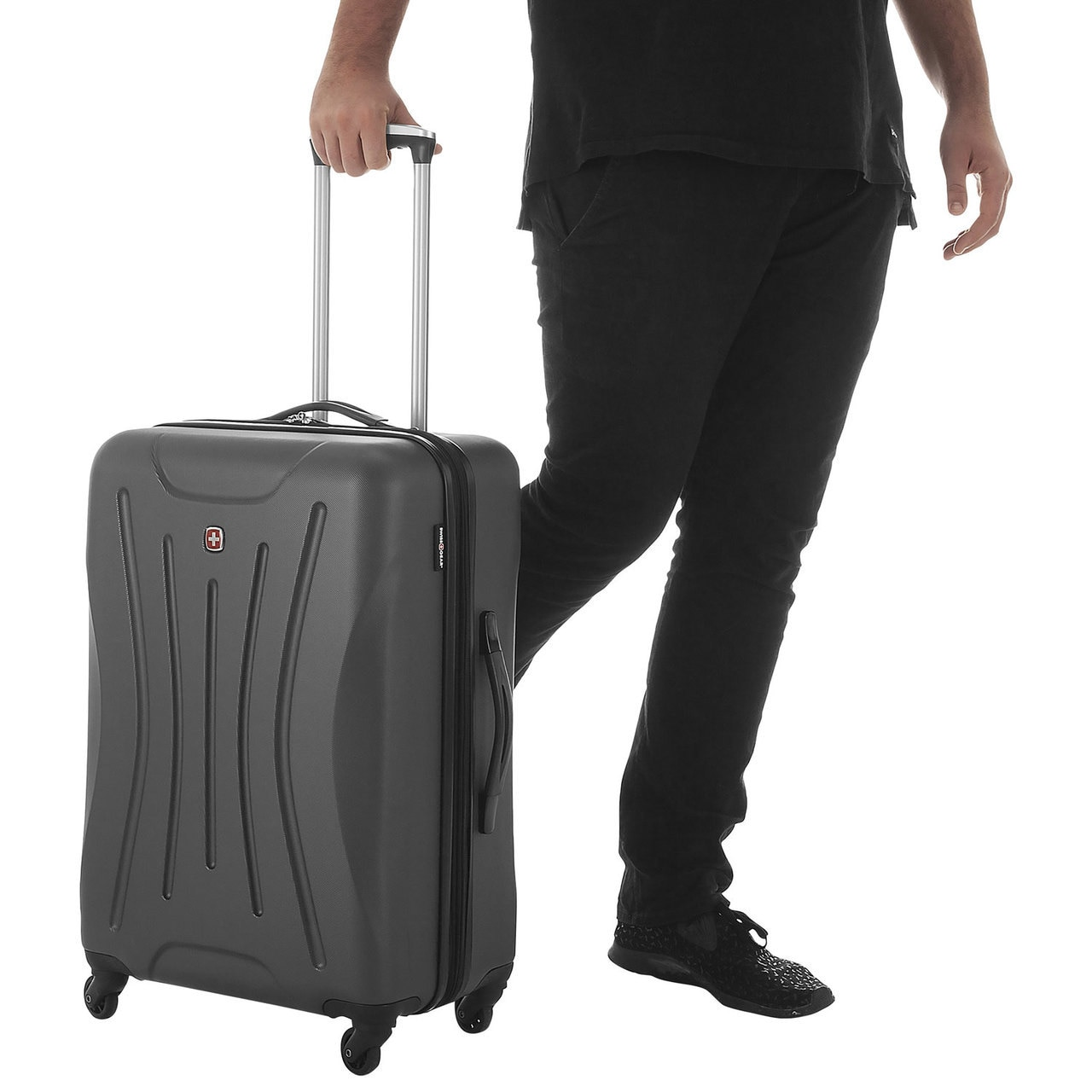 7d25af69eb10 Swissgear Fiesta Collection 24 Inch Expandable Spinner Luggage Case -  Charcoal