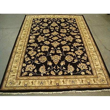 Excellent Black Chobi Zeigler Mahal Vege Dyed Area Rugs Hand Knotted Carpet (7.11 x (Chobi Carpet)