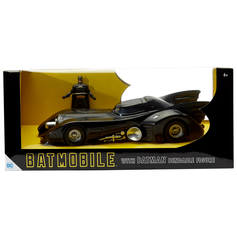 "1989 Batmobile w/ Michael Keaton Batman 3"" Bendable"