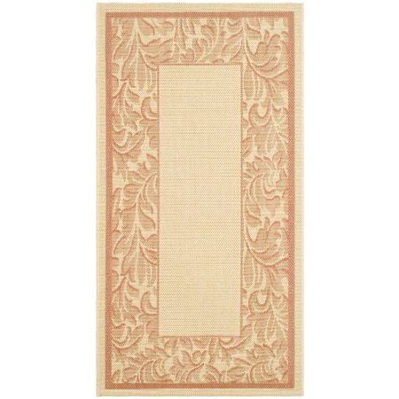 Safavieh Courtyard Collection CY2666-3201 Natural and Terra Indoor/ Outdoor Area Rug (27 x 5) - image 1 de 1