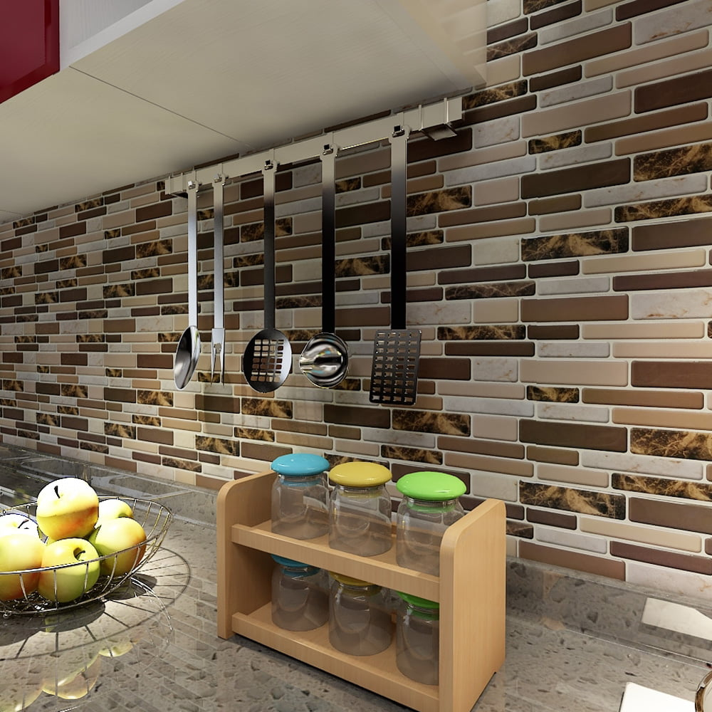 peel and stick kitchen backsplash art3d 12 quot x 12 quot peel and stick tiles for kitchen backsplash self adhesive wall tile 3d wall 5977