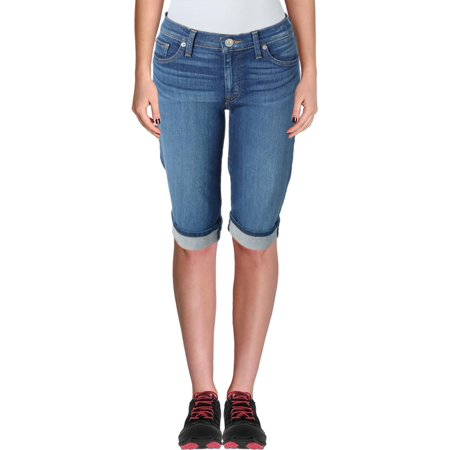 Hudson Womens Amelia Denim Straight Fit Capri Jeans