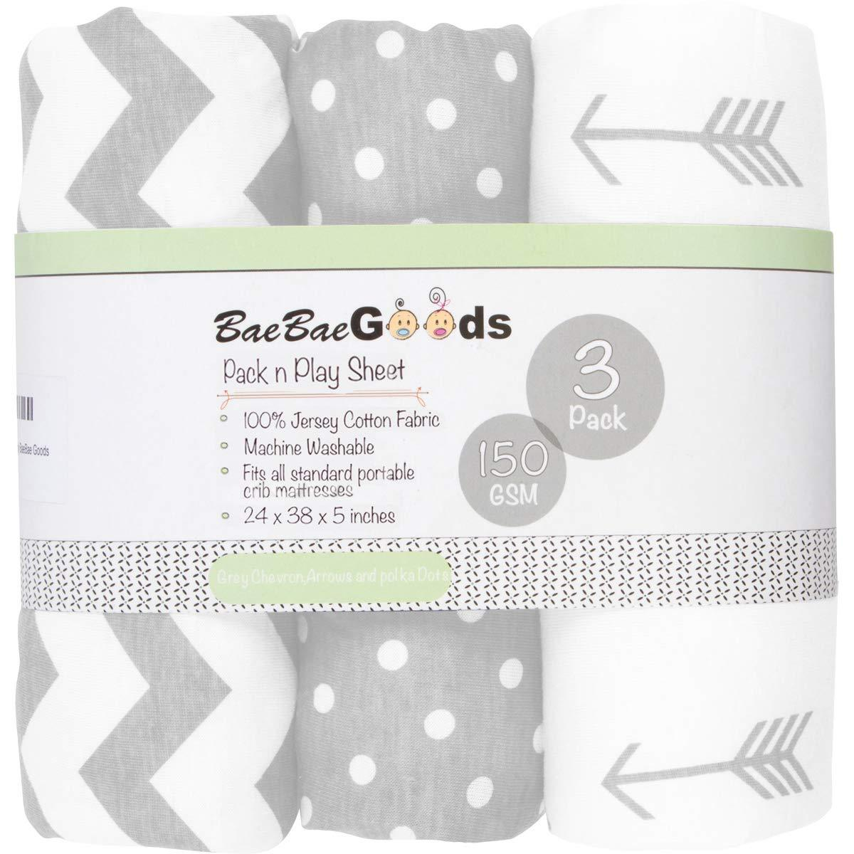 Pack n Play Sheets - Pack and Play Sheets 3 Pack - 100% ...