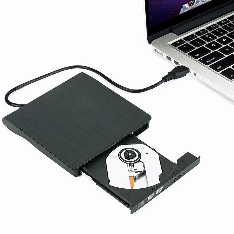 VicTsing External DVD Drive USB 3.0 Slim Portable Writer/Burner/Rewriter/CD ROM Drive for Apple Macbook Air Pro PC Laptop Desktops Black