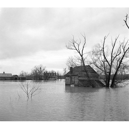 Virginia Flood 1936 Nfarmland Flooded By The Shenandoah River In Virginia Photograph By Arthur Rothstein March 1936 Rolled Canvas Art     18 X 24